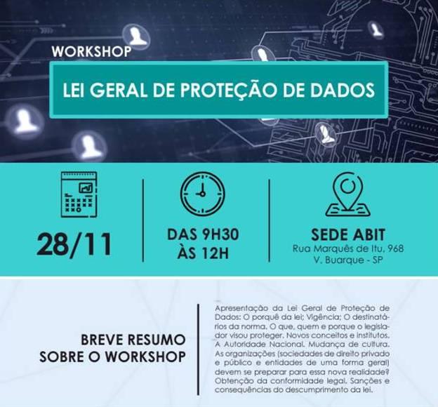 Workshop ABIT: Lei Geral de Proteção de Dados